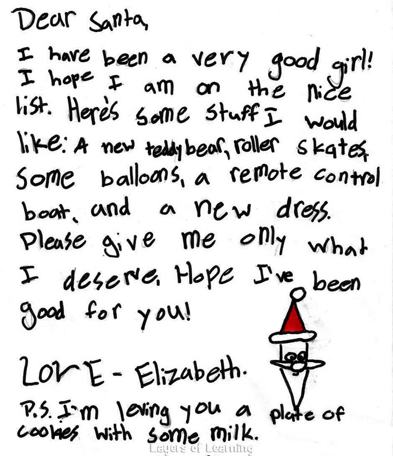 How To Write A Letter To Santa Claus Examples Of Prepositions