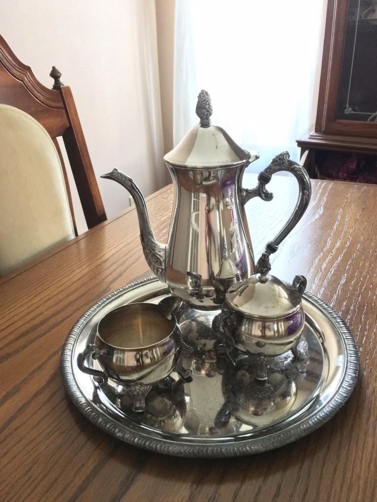 silver tea set burglars left behind