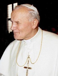 """John Paul II 1980 cropped"" by Fels_Papst.JPG: Nikolaus von Nathusiusderivative work: JJ Georges - This file was derived from: Fels Papst.JPG: . Licensed under Public Domain via Wikimedia Commons."
