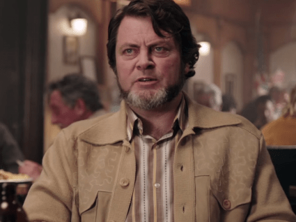 Nick Offerman as the conspiracy-minded Karl Weathers.