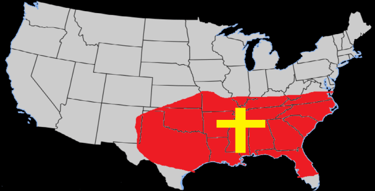 Image result for bible belt USA