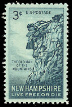 Old Man of the Mountain stamp