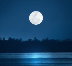 Moon over water (shutterstock)