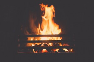 The hearth fire: a universal symbol of warmth.