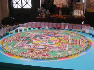 """Amazing sand mandala"" by Mai Le from San Francisco, CA, USA - Flickr. Licensed under CC BY 2.0 via Commons - https://commons.wikimedia.org/wiki/File:Amazing_sand_mandala.jpg#/media/File:Amazing_sand_mandala.jpg"