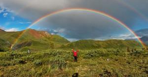 Double rainbow in Alaska