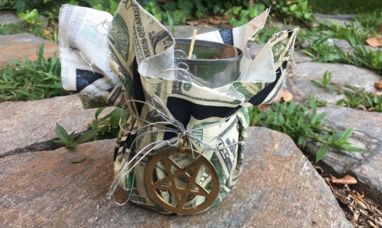 "Heron's ""Money Pot"" spell--a work in progress over 4 years. Photo by Heron Michelle"
