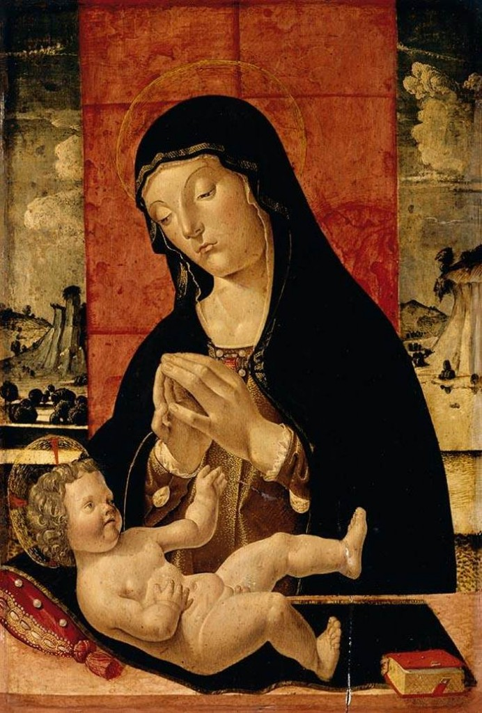 Madonna Adoring the Christ Child, Pietro Da Vicenza