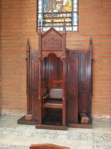 A confessional in Columbia, by SajoR.