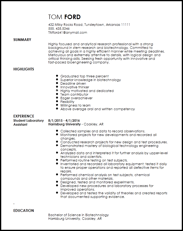Entry Level Research Associate Resume Template ResumeNow