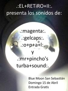 Flyer El Retiro 2 O.P.A.L. en directo