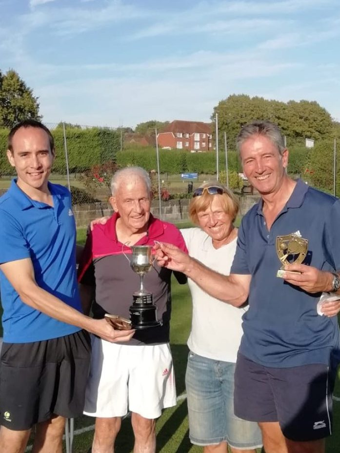 David Leech and Peter Hargreaves, Winners Men's Doubles Handicap 2018