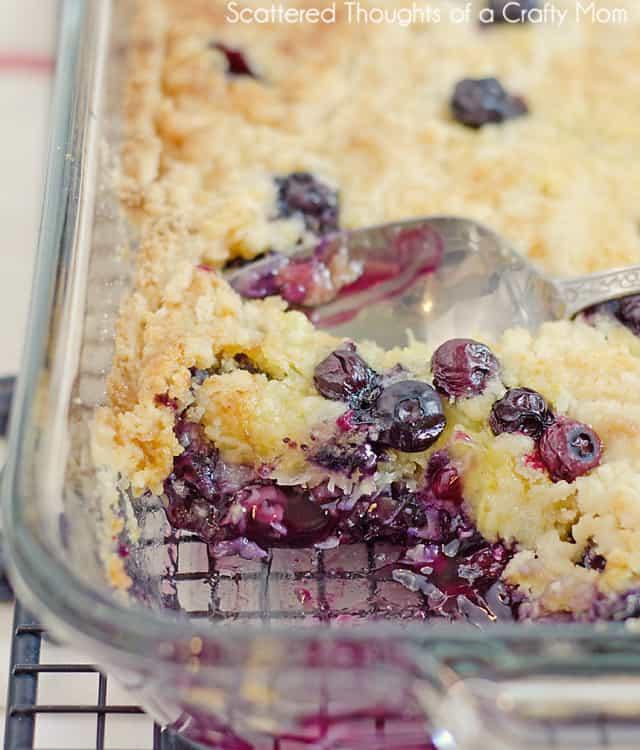 Blueberry Dump Cake With Yellow Cake Mix