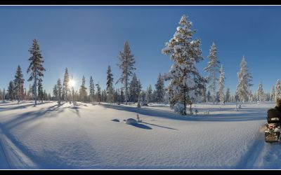 2017-02: Mittagssonne in Lappland
