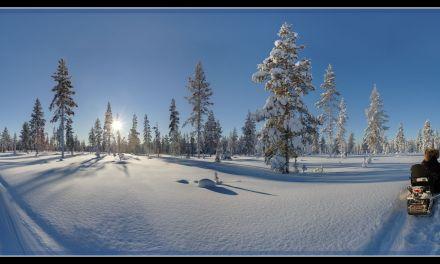 2017-02: Mittagssonne in Lappland