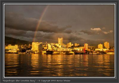 Regenbogen über Lonsdale Quay
