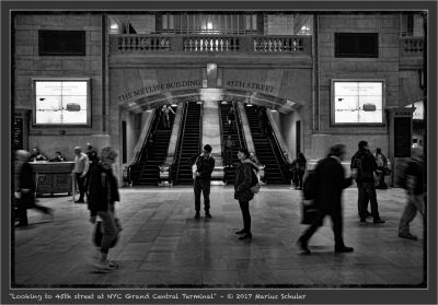 Looking to 45th street at NYC Grand Central Terminal