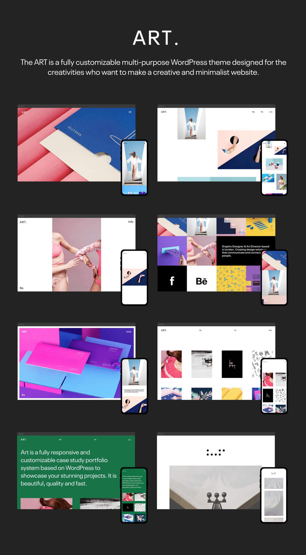 Art_WordPress_theme_8_home_demos