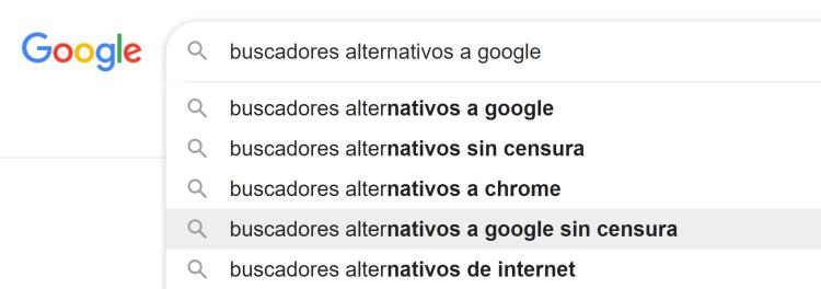 buscadores alternativos a google sin censura