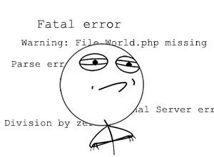 WP chyby a ich riešenie - fatal error