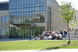 Class outside of Regents Hall