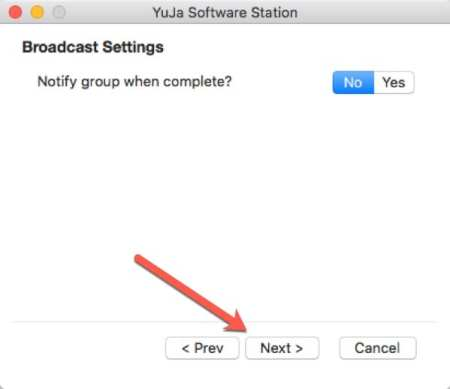 Select your Broadcast Settings.
