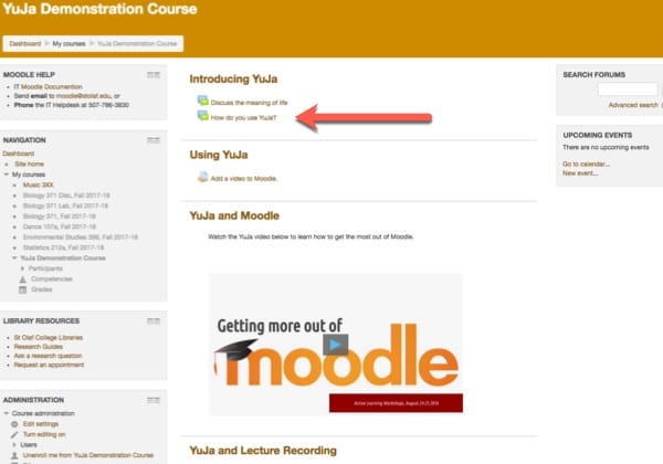 Select your course assignment in Moodle.