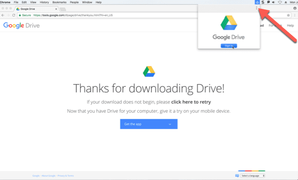 sign out of google drive on mac