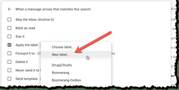 Screenshot for adding a label