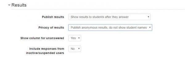 """Screenshot of online settings titled """"Results"""""""