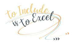 To Include is To Excel Logo