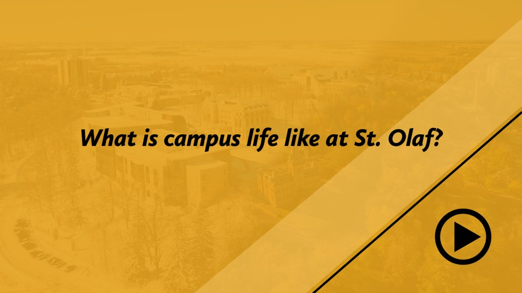 What is campus life like at St. Olaf?