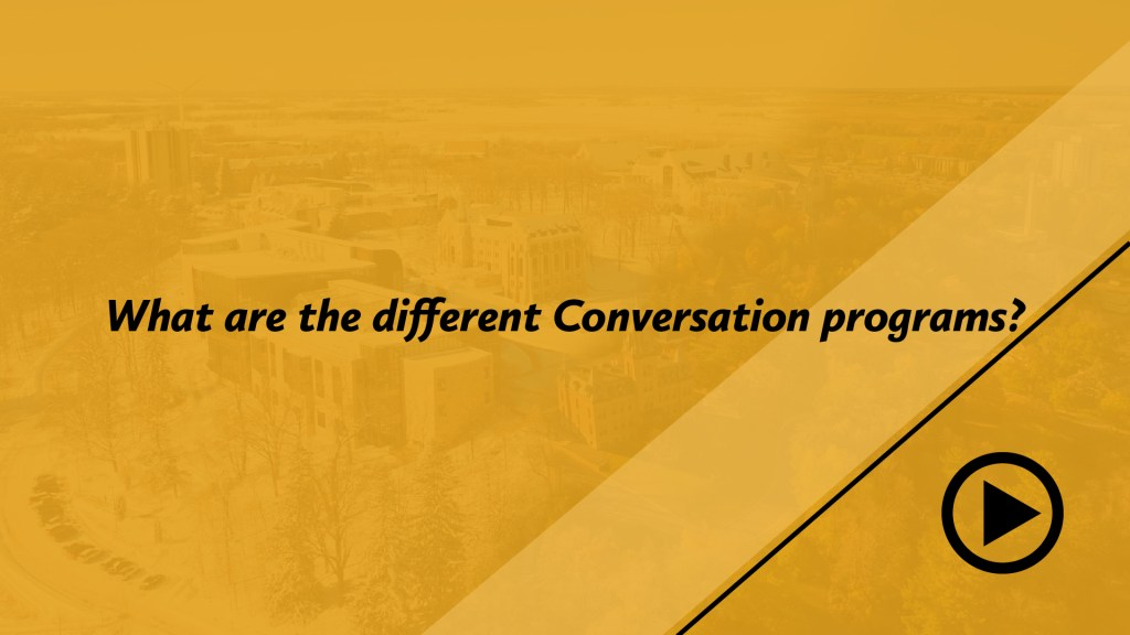 What are the different Conversation programs?