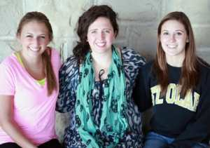 St. Olaf seniors (from left) Meredith Couture, Eileen O'Donoghue, and Mackenzie Wolter parlayed the lessons they learned about teamwork during their time with the women's basketball team into careers at Target.
