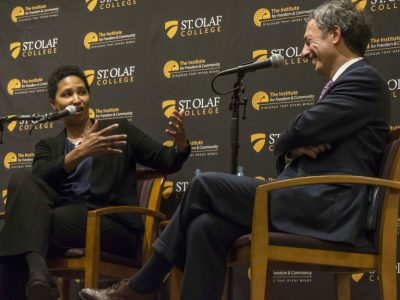 Danielle Allen of Harvard University and Peter Berkowitz of the Hoover Institution at Stanford University discuss academic freedom at St. Olaf
