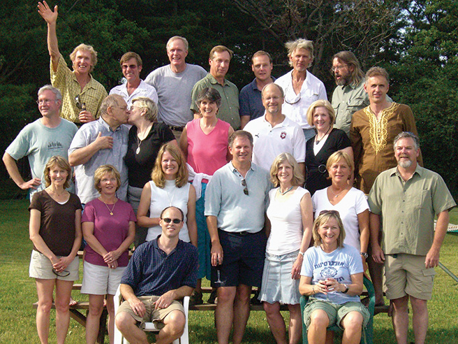 Photo of the 32nd reunion of students who went on Global in 1977-78.