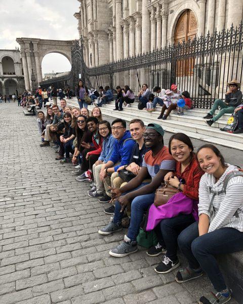 Oles outside the Plaza de Armas in Cusco, Peru