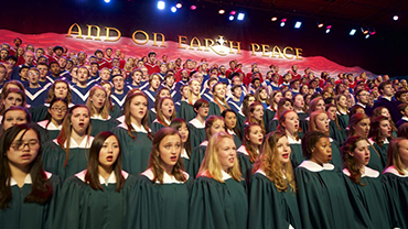 Choirs sing at the St. Olaf Christmas Festival