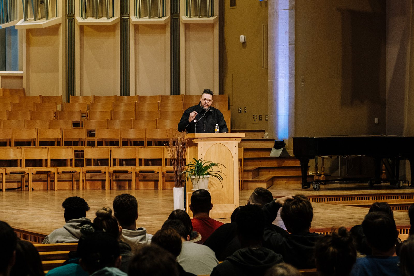 Rev. Lenny Duncan in Boe Chapel