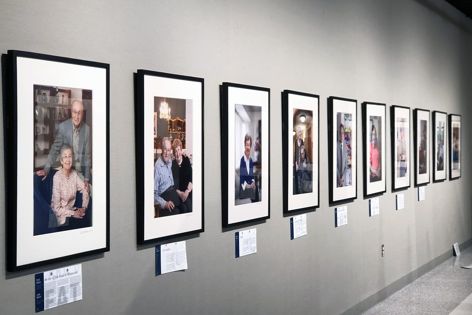 """A view of the portraits in the """"Transfer of Memory"""" exhibition."""