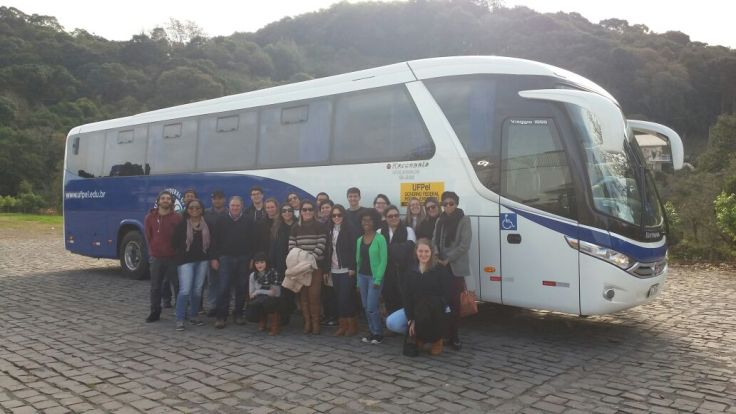 Viagem dos Cursos do CCQFA para participação de visita técnica em Bento Gonçalves e Flores da Cunha/RS.