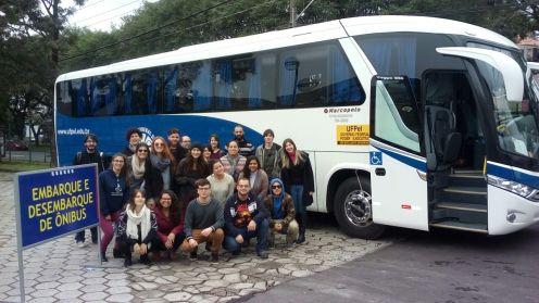 Viagem do Curso de Jornalismo (Centro de Letras e Comunicação) para participação de Evento em Curitiba/PR.