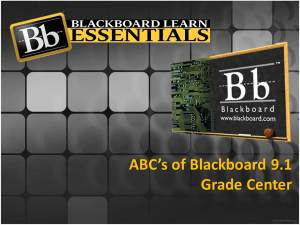 ABC's Blackboard Grade Center