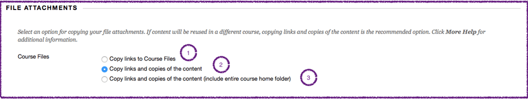 New Course Copy Option File Attachments in Blackboard
