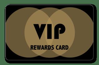 VIP rewards loyalty card with gold interlocking circles