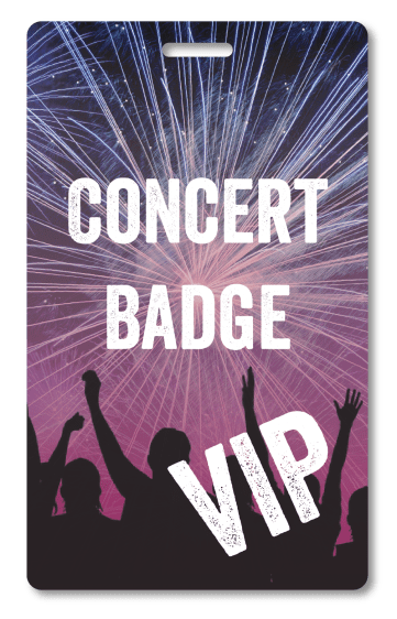 concert event access badge