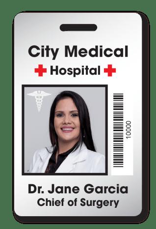 Hospital Staff ID Badge