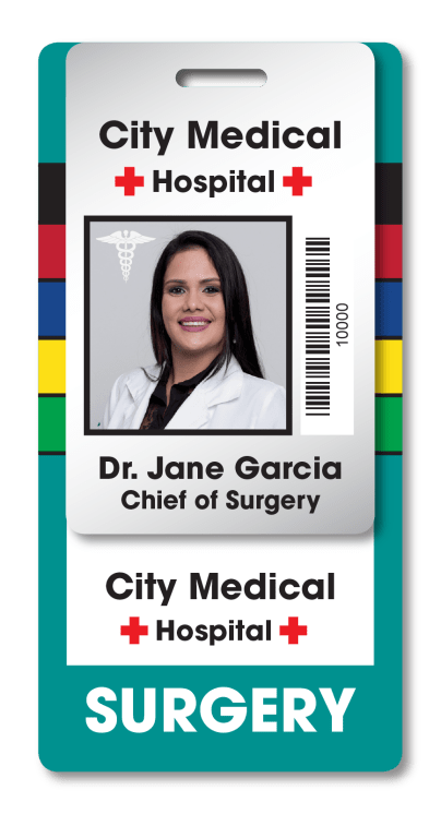 Hospital ID and Emergency Codes Stacked Badges