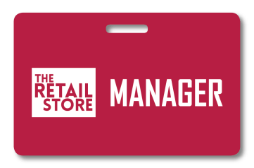retail employee badge