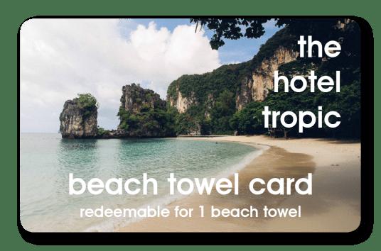 Hotel Towel Card
